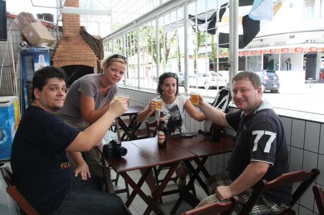 Sosialt samvær med kollegaer i Santos